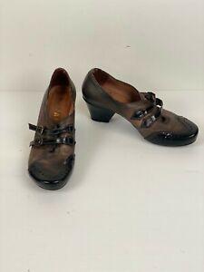 Hispanitas Spain Leather Womens Block heel Court shoes  Size 32