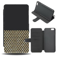 Black and Gold Studded Printed Phone Case Cover | Rocker Design Studs B324