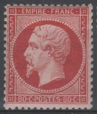"""FRANCE STAMP TIMBRE 24 """" NAPOLEON III 80c ROSE 1862 """" NEUF TB A VOIR  M422"""