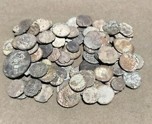 Lot Of 100 Uncleaned Ancient Roman Coins # 12 Low Grade