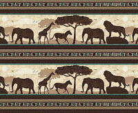 WISDOM OF THE PLAINS ANIMAL STRIPE QUILTING TREASURES 100% COTTON FABRIC YARDAGE