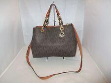 Michael Kors Handbag Cynthia Medium PVC Signature Satchel Shoulder Bag Tote $348