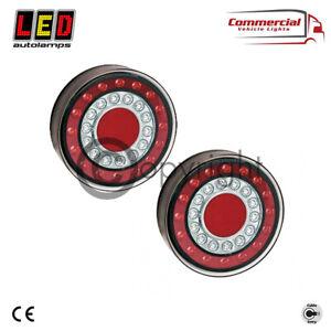 2 X LED AUTOLAMPS STOP/TAIL INDICATOR 12 24V V ROUND LED REAR LAMP MAXILAMP 1XCE
