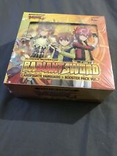 Cardfight! Vanguard GLORIOUS BRAVERY OF RADIANT SWORD Factory Sealed Booster Box