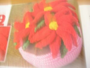 KNITTING PATTERN FOR POINSETTA TABLE CENTRE.