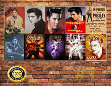 Job Lot 10 x METAL TIN SIGN WALL PLAQUE ELVIS PRESLEY  COLLECTION #1