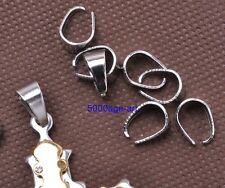 silver gold plated bronze Pendant Pinch Clip Clasp Bail Connector finding 11x8mm