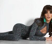 BY Alina Damen Overall Einteiler Catsuit Sexy Jumpsuit grau 36 - S #B970