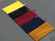 100 PCS Blue Black Red Brown Flannel Bag Pipe Bag For Tobacco Smoking Pipe #527