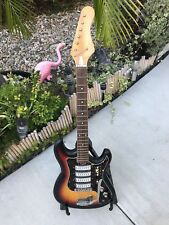 Vintage Teisco WG-4L 1965 Natural M *hogany Four Pickup Guitar Project.