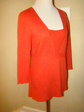 Ann Taylor Burnt Orange Gorgeous Accent Wool Angora Cashmere Sweater Size M