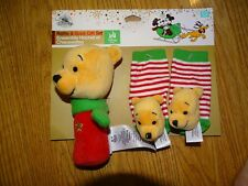 Disney Store Winnie the Pooh Rattle & Sock gift set Christmas 0-6 months Infant
