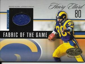 2006 Leaf Certified Materials Fabric of the Game - Henry Ellard  #FOTG-22  24/25