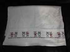 Baby Cot Sheet * White * Size 106 x 150Cm
