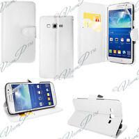 Housse etui coque portefeuille Blanc Samsung Galaxy Grand 2 SM-G7100 SM-G7102
