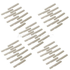 50 Pcs Ivory Acoustic Guitar Plastic Fully Compensated Saddle