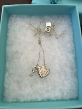 Tiffany & Co Return To Love Heart Tag Key Sterling Silver Necklace RP$285