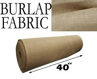 """Burlap Fabric Natural - 40"""" Wide - Sold By The Yard"""