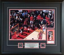 Toronto Raptors Kawhi Leonard juego 7 con boleto Zumbador tiro 22x26 Color Enmarcado