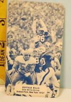 1975 Buffalo Bills Football Schedule Official Release #D