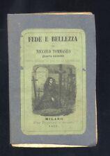Niccolo Tommaseo, Fede e bellezza,Per Borroni e Scotti 1852,quarta edizione R