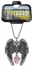 Guardian Angel Rear View Mirror Charm Rose Crystal (15488) NEW from AngelStar