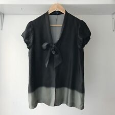"Theory Womens ""Brionel Side Walk"" Dip Dye 100% Silk Top / Blouse, Size M"