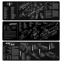 EE_ 12X36INCH GUN CLEANING BENCH MAT WITH PARTS DIAGRAM FOR AR15 REMINGTON 870 S