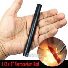 "1/2 x 5"" Ferrocerium Rod Flint Fire Starter Magnesium Tool Kits Camping - Large"