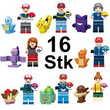 16Stk Pokemon Go Set Minifiguren Bausteine Spielzeug PIKACHU Passend für Lego