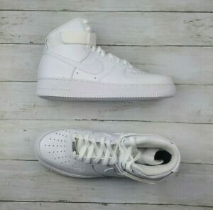B Grade NIKE Men AF1 High '07 Triple White 315121 115 - Sz 10.5 New/NoBox