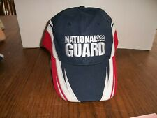 NATIONAL GUARD RED, WHITE & BLUE CAP HAT ADJUSTABLE ONE SIZE FITS MOST CAP NG 1