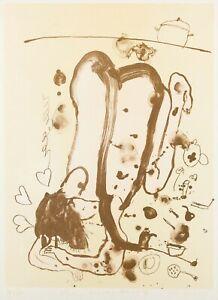 John Olsen -Woman Avoiding Washing Up ~ limited edition Lithograph ed. 37/40