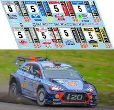 HYUNDAI i20 WRC NEUVILLE trasformazione per base IXO RAM645C  2017  DECALS 1/43