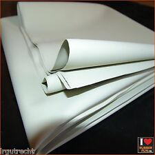 Rubber bed protector - white - single bed 200 x 100 cm - 0.45 mm thick