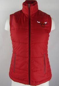 Chicago Bulls G-III Women's Red Full-Zip Puffer Vest NBA (S)