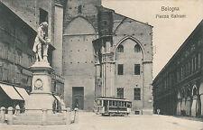 NP0417 - BOLOGNA - PIAZZA GALVANI CON TRAM IN PRIMO PIANO VIAGGIATA 1916