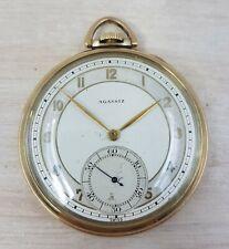 Agassiz Watch Co. Art Deco 10K gold-filled pocket watch