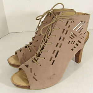 Adam Tucker by Me Too Womens Gemma Lace-Up Pump Shoes, Rosewood, US 11