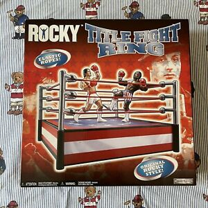 Rocky Title Fight Boxing Ring 2006 Jakks Pacific New Complete Stallone Balboa