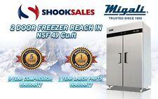 Migali C-2F 2 Door Freezer Reach In Nsf49 cu.ft To Commercial Address