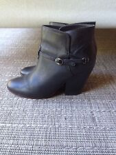 Black leather ankle boots by Trenery size 7 (37 EU)