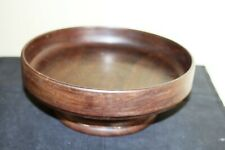 Turned Wood Fruit Bowl-23 cms Diameter