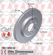 Disque de frein avant ZIMMERMANN PERCE 150.1269.52  BMW 3 Coupé E46 323 Ci 170ch