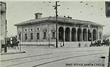 C.1910 Post Office, Santa Cruz, Cal. Vintage Postcard P106