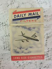 Vtg Daily Mail Canadian Long Size Cigarette Pack EMPTY Display Only Hard Box