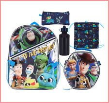 5 Piece- Toy Story Large Backpack + Lunch Box + Pencil Case + Sling Pack +Bottle