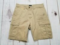 Mens Levi Strauss SIGNATURE TAN Military Cargo Hiking Camping Shorts Size 33