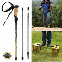 Pair 2 Trekking Walking Hiking Sticks Poles Adjustable Alpenstock anti-shock WY