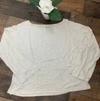 Madewell Size Med Women's 3/4 Sleeve Ivory Off White Top Shirt  .. Super Soft!!